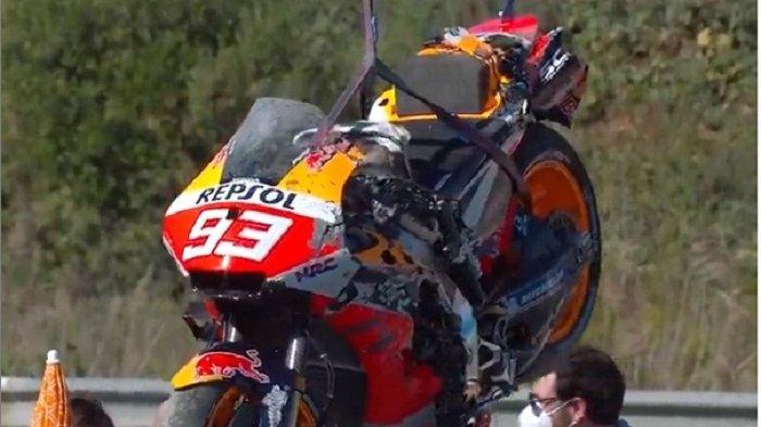 Update Kondisi Marc Marquez Usai Kecelakaan di FP3 Jelang Race MotoGP Spanyol Hari Ini, Live Trans7