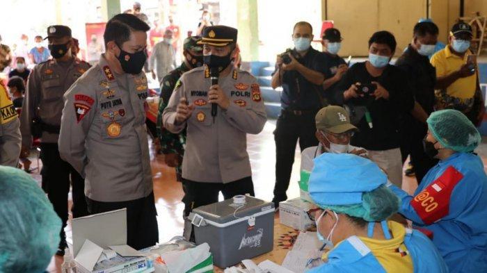 Vaksinasi 600 Orang Lansia di Tabanan Dipantau Langsung Kapolda Bali