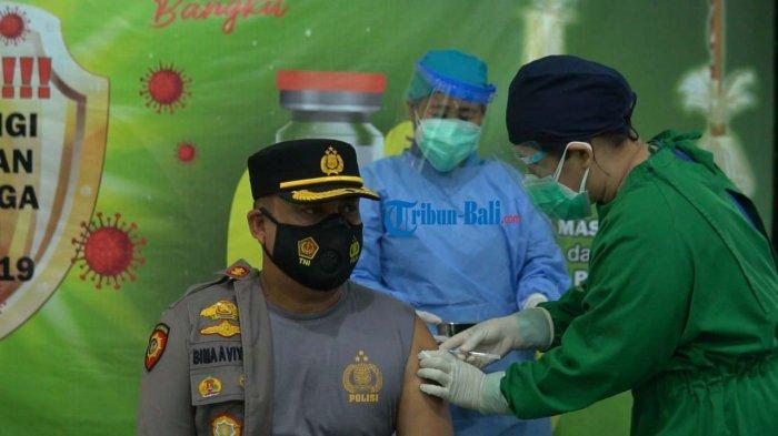 Vaksinasi Covid-19 Dosis Kedua Pejabat Publik dan Tenaga Medis di Klungkung Bali Dimulai Hari Ini