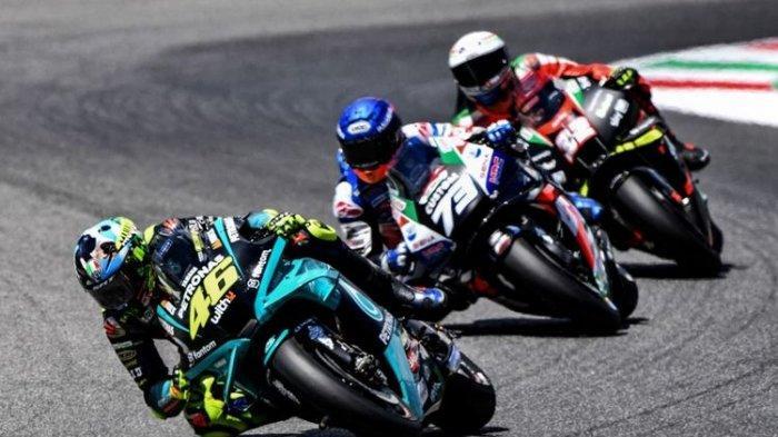 Valentino Rossi saat balapan pada MotoGP Italia 2021.