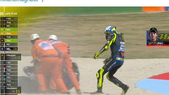 Valentino Rossi dan Dua Muridnya Cium Aspal, Tak Ada Wakil Italia Podium di Sirkuit Misano