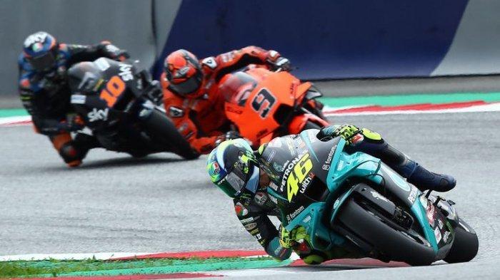 Valentino Rossi saat balapan pada MotoGP Styria 2021.