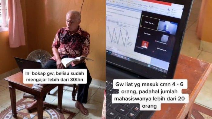Viral Dosen 70 Tahun di Jakarta, Semangat Mengajar Kelas Online Meski Hanya 4-6 Mahasiswa yang Hadir