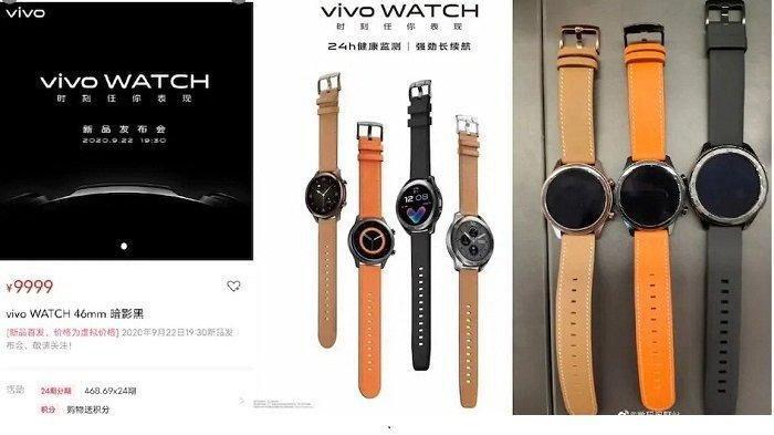 Jam Tangan Pintar Vivo Watch Dikabarkan Rilis 22 September, Ini Spesifikasi dan Harganya