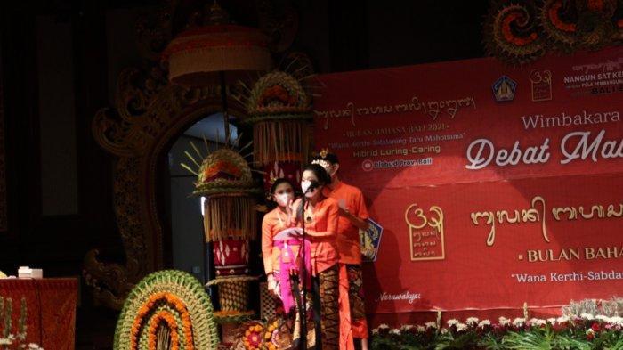 Wakil Klungkung Juara 'Debat Mabasa Bali', Mengasah Kemampuan Berbahasa Bali