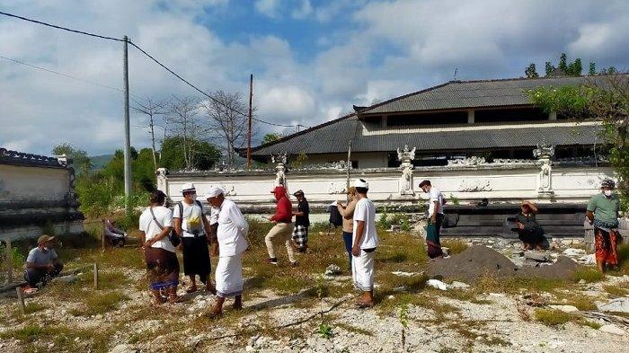 Pasca Terbakar Hebat, Pura Dalem Batununggul di Nusa Penida Kembali Dibangun