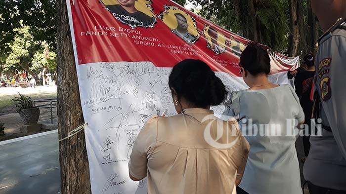 Aksi Solidaritas di Lapangan Puputan Badung, Iswanto: Saya Prihatin dengan Kejadian Ini