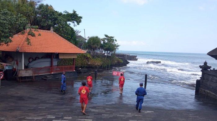WASPADA Gelombang Tinggi di Pesisir Tabanan, Patroli Laut Libatkan Pecalang Desa Adat