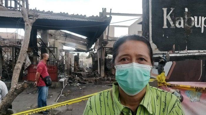 Tak Sempat Selamatkan Dagangan dari Kebakaran Pasar Blahbatuh, Wayan Ajin : Sudah Ludes Semua