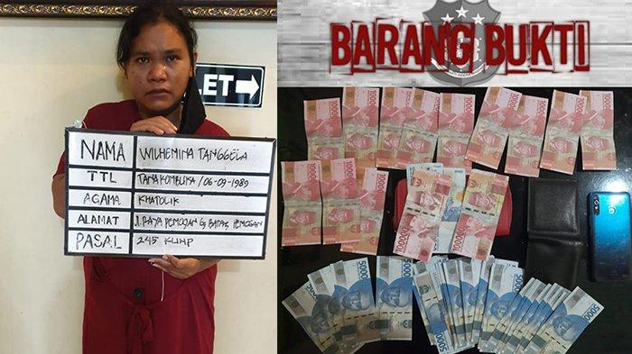 Belanja di Warung Pakai Uang Palsu, IRT di Denpasar Diamankan Polisi