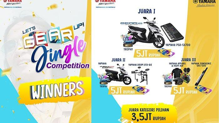 Semakin Menang Banyak, Yamaha Bagikan Hadiah Pemenang Lets GEAR Up Jingle Competition