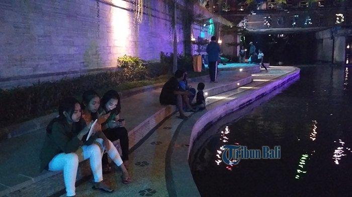 Wisata Malam di Pusat Kota Denpasar, Tukad Badung Gemerlap Serasa di Korea