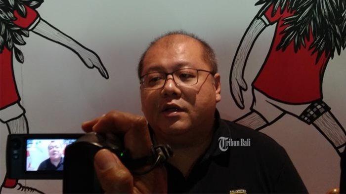 Yabes Tanuri saat dijumpai awak media di Bali United Cafe, Gianyar, Bali, Minggu, 12 Januari 2020.