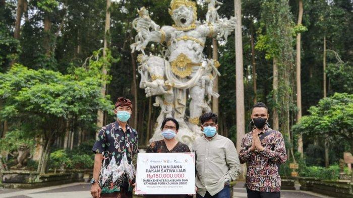 Bantuan Pakan Wenara Senilai Rp450 Juta Diserahkan di Tiga Destinasi Wisata