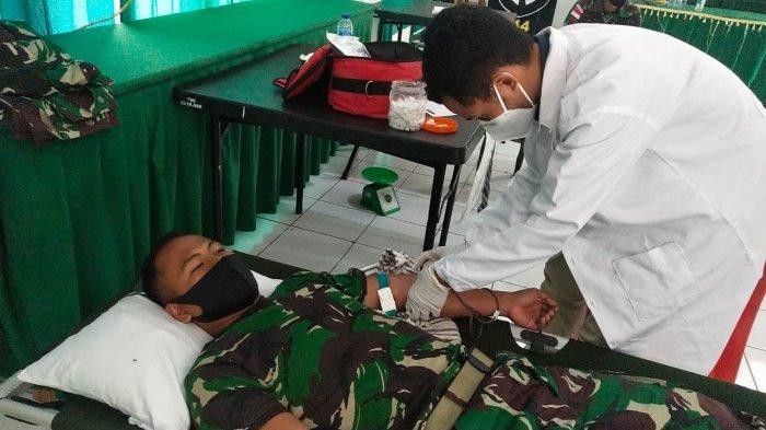 Jelang Purna Tugas di Perbatasan RI - RDTL, Anggota TNI Kodam IX/Udayana Gelar Baksos Serentak