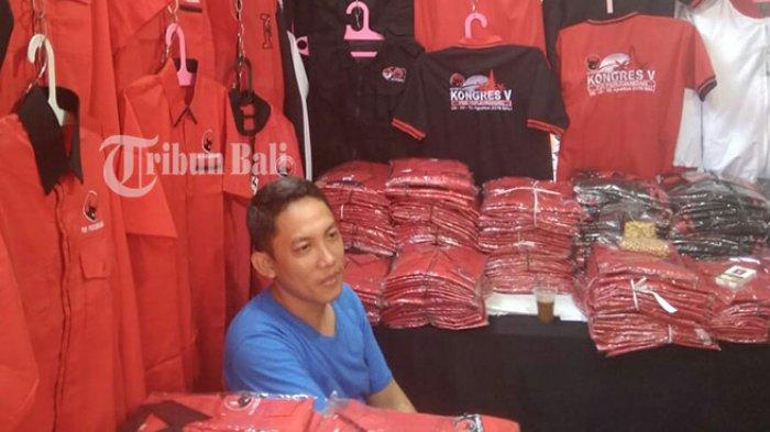Yopi Datang dari Jakarta untuk Jualan di Kongres V PDIP di Bali, Sehari Raup Omzet hingga Rp 8 Juta