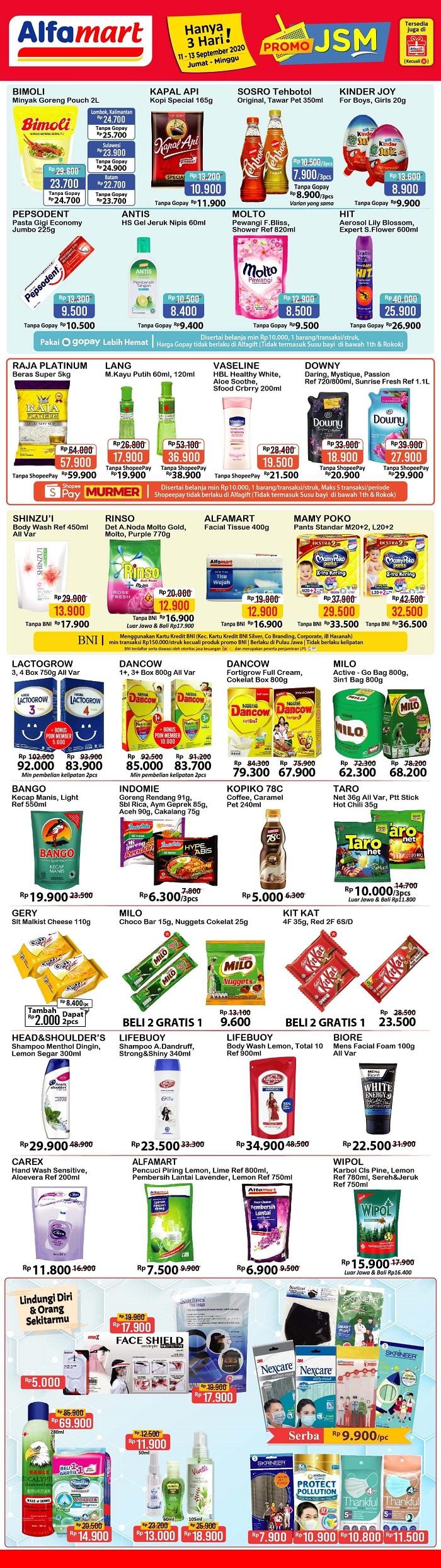 Katalog Promo JSM Alfamart 11-13 September 2020.