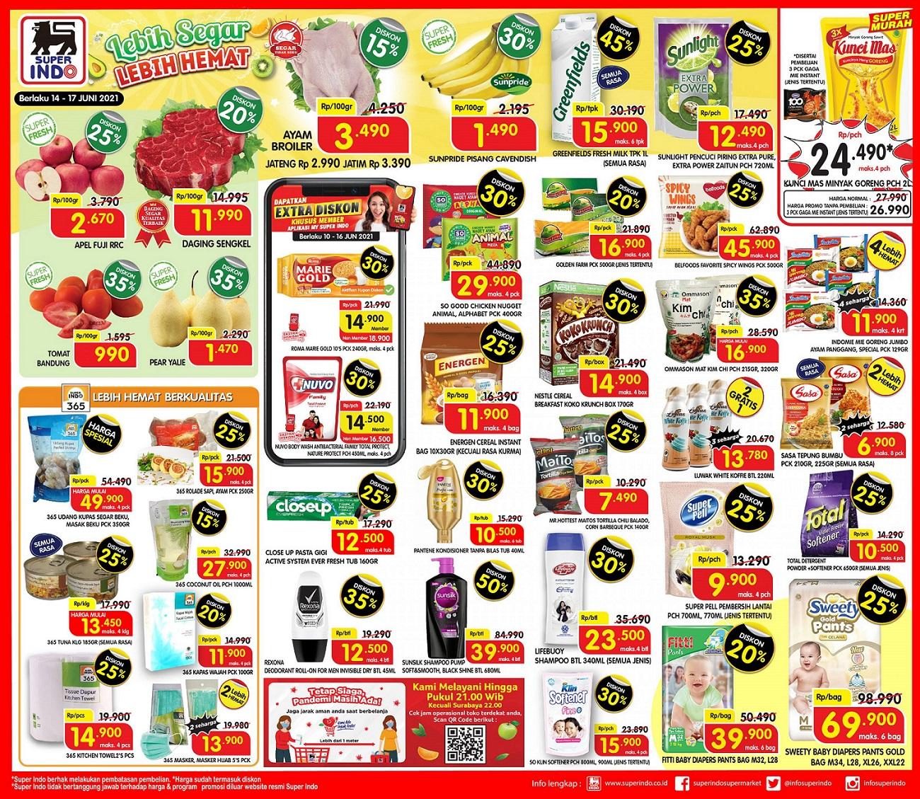 Katalog Promo Superindo 14-17 Juni 2021.