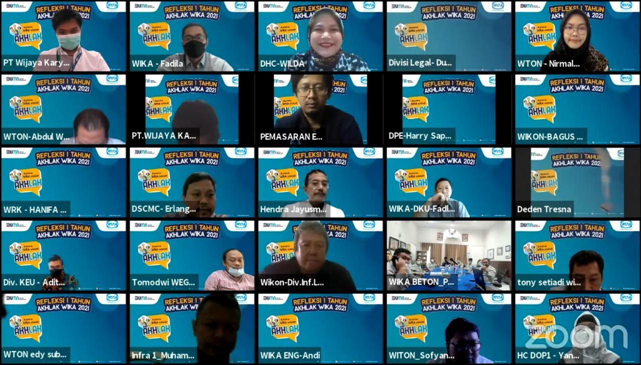 Peringati Hari Jadi Core Value Baru BUMN, WIKA Grup Helat Refleksi 1 Tahun AKHLAK
