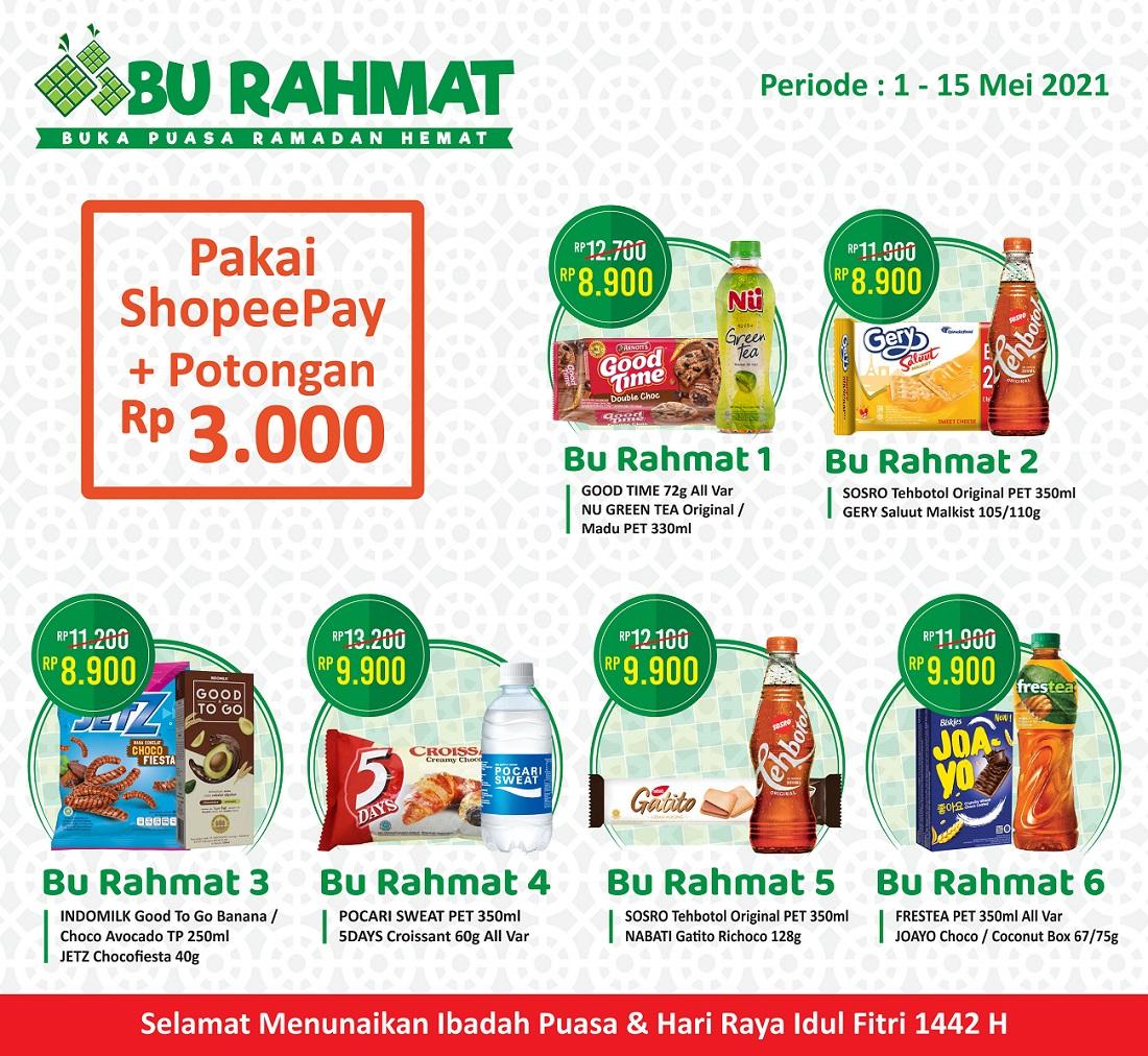 Promo Paket Bu Rahmat 1-15 Mei 2021.