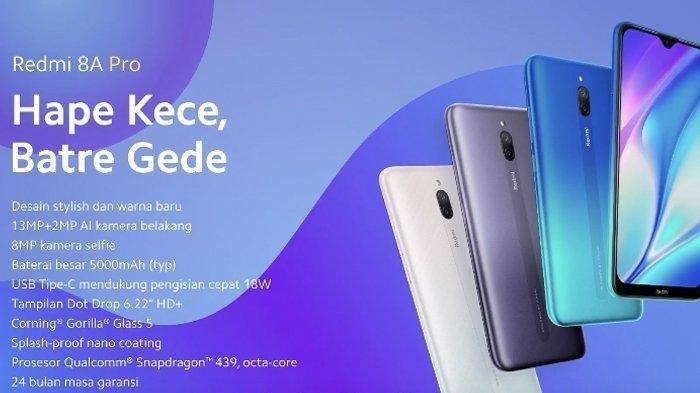 Hape Kece Baterai Gede Xiaomi Redmi 8A Pro Dibanderol Rp 1,5 Jutaan