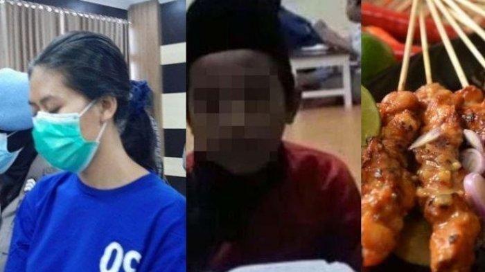 Sosok perempuan pengirim sate beracun yang tewaskan anak driver ojek online di Bantul. (KOMPAS.COM/MARKUS YUWONO dan ISTIMEWA)