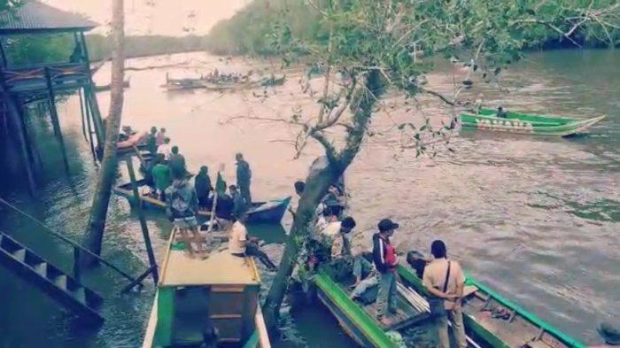50 Perahu Nelayan Dikerahkan ke Sungai Penyampak, Kasir pun Ditemukan, Begini Kondisinya