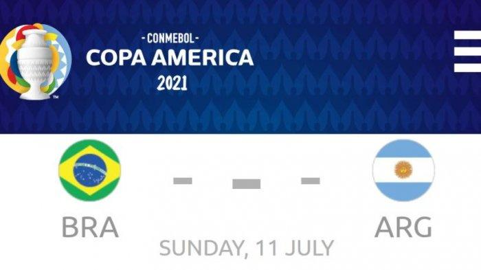 Final Copa America Brasil Vs Argentina, Duel Sengit Neymar dan Messi Sangat Menentukan Siapa Terbaik