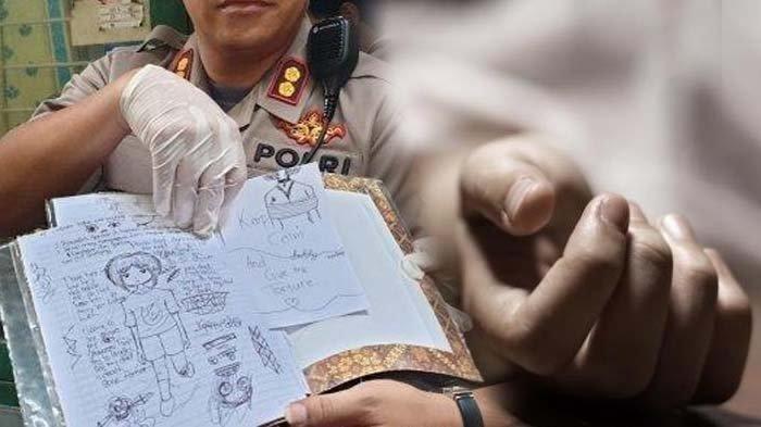 Psikolog Bongkar Arti Coretan Siswi SMP Pembunuh Bocah, Penuh Kemarahan & Emosi di Tanda Garis