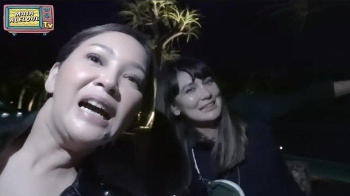 Momen Maia Estianty tak sengaja bertemu Luna Maya di Bali baru-baru ini.