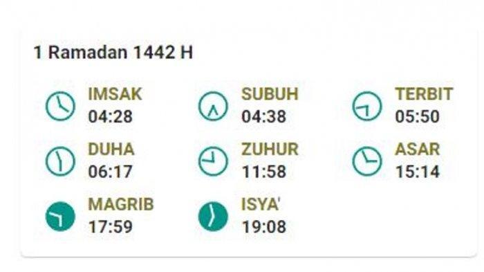 Jadwal Buka Puasa 1 Ramadhan 1441H di Bangka Selatan, Toboali, Selasa 13 April 2021
