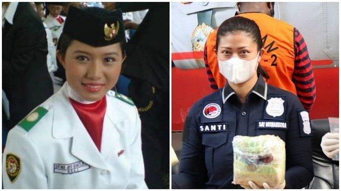 Pembawa Baki bendera merah putih pada Peringatan Hari Kemerdekaan Republik Indonesia 2008 lalu, I Dewa Ayu Santi Rendang. Kini, Iptu Santi menjadi seorang polwan hebat di Polda Metro Jaya