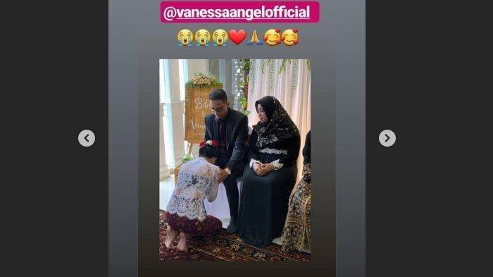 Resmi Menikah Secara Hukum, Ini Momen Vanessa Angel Minta Restu Sang Ayah saat Akad Nikah