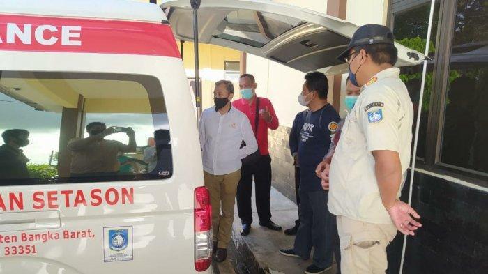 Kejaksaan Negeri Bangka Barat yang diwakili oleh Kasi Datun, Heru Pujakesuma turut meninjau kegiatan vaksinasi massal gratis kepada masyarakat dalam rangka HUT ke-75 Bhayangkara