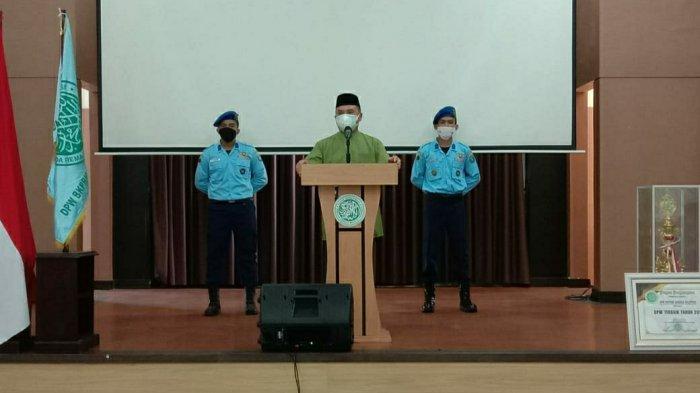 Gubernur Provinsi Bangka Belitung saat memberikan sambutan kepada para hadirin ajang Festival Anak Sholeh Indonesia (FASILITAS) ke-XI tingkat Provinsi Bangka Belitung, Sabtu (03/07/2021).