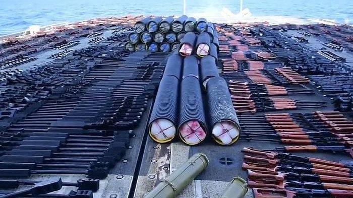 Amerika Sampai Syok, Temukan Ribuan Senjata Buatan China & Rusia, akan Dikirim ke Pemberontak Houthi