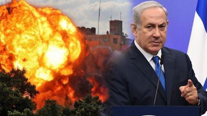 Israel Semakin Brutal, PM Netanyahu Perintahkan Semua Alusista Digunakan untuk Bombardir Gaza (Kloase SERAMBINEWS.COM /AFP)