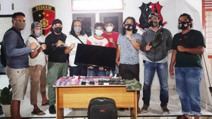 Kurang dari 24 Jam Tim Naga Tangkap Pembobol Konter, Aksi Dua Pelaku Terekam CCTV