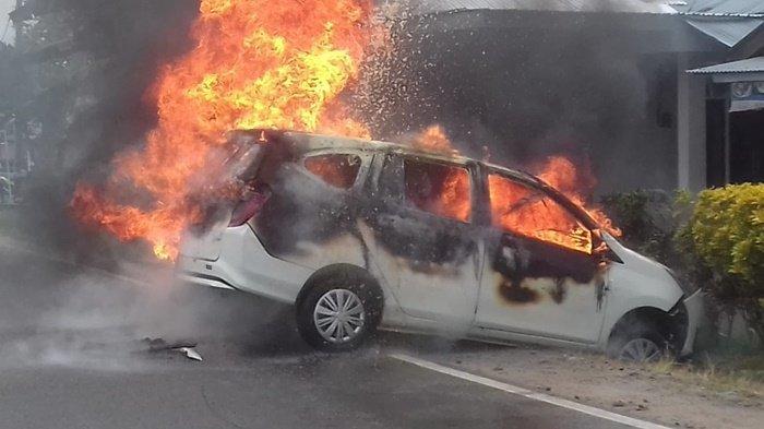 Mobil Terbakar di SPBU saat Anak Main Handphone, Buka Pintu Tiba-Tiba Meledak dan Terbakar