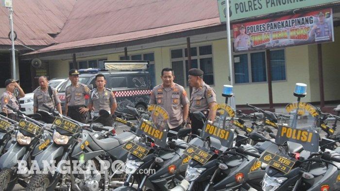 Polres Pangkalpinang Cek Kesiapan dan Kelengkapan Kendaraan untuk Patroli