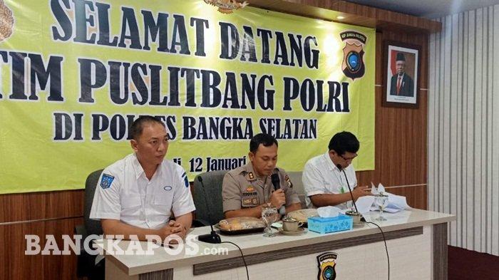 Puslitbang Mabes Polri Ambil Contoh Pelayanan di Polres Bangka Selatan