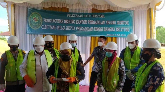 Hadiri Groundbreaking Pembangunan Kantor Baru PN Muntok, Kajari: Kabar Gembira untuk Bangka Barat