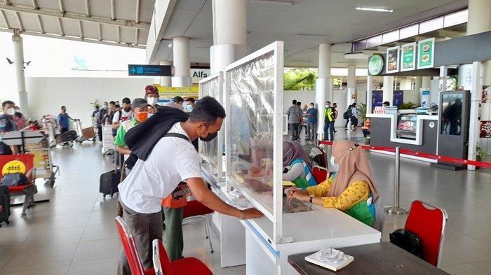 Aktivitas Bandara Depati Amir Kian Ramai, Sehari Penumpang Berangkat Mencapai 1.480 Orang