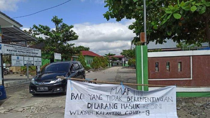 Kawasan Perkantoran Desa Bencah yang dijadikan sebagai Posko Karantina Covid-19