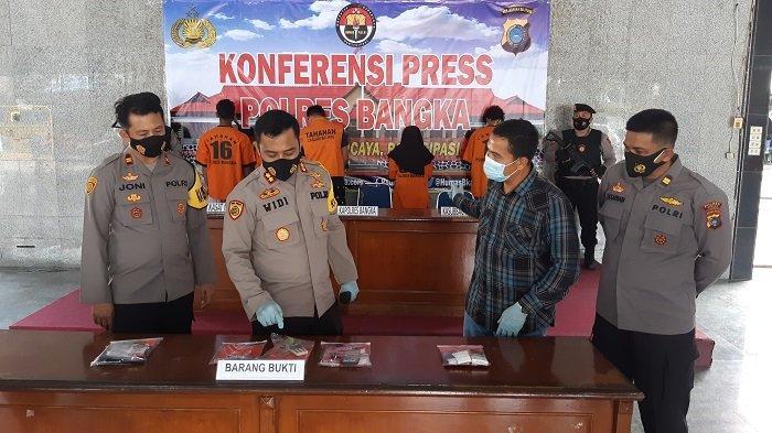 Penyamaran Anggota Opsnal Polres Bangka Berhasil, Kurir Narkoba Dibekuk di Parit Pekir