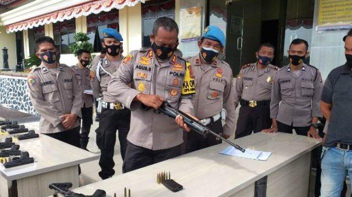 AKBP Agus Siswanto Mendadak Periksa Senjata Api Personel Kapolres Bangka Selatan