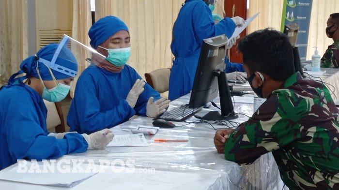 Update, 17.265 Pekerja Publik Sudah Divaksin, Stok Vaksin di Pemprov Babel Tinggal 7.000 Dosis