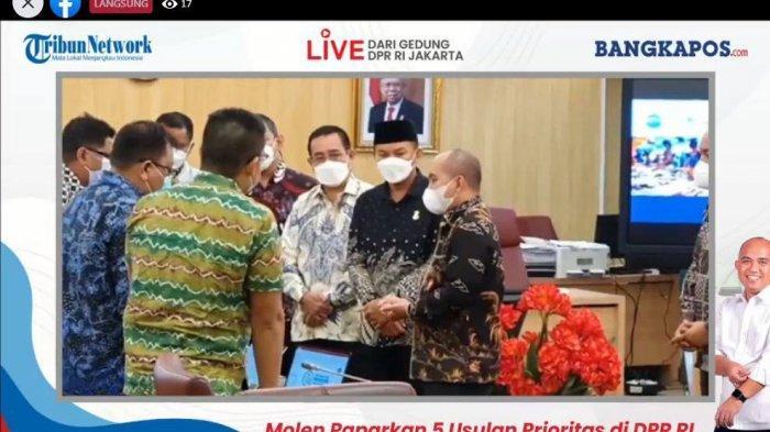 Tangkapan layar Live bersama Bangka Pos dsri gedung nusantara II DPR RI Jakarta