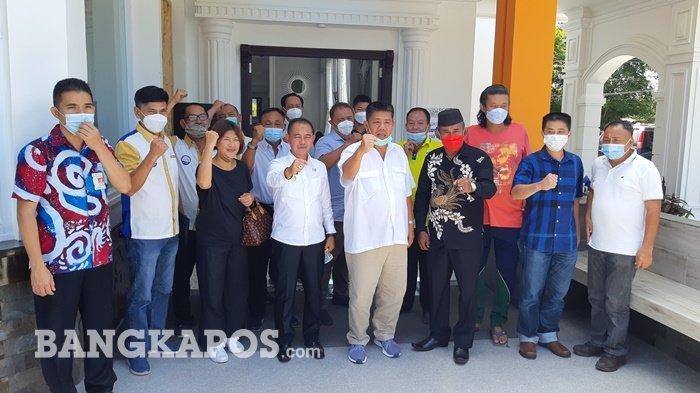 Ketua Aptin dan Bupati Bangka Silahturahmi dengan Wartawan, Udang Jadi Andalan Pasca Tambang