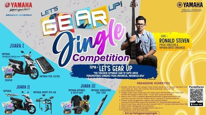 Peringati Hari Musik Nasional, Yamaha Gelar Lets GEAR Up Jingle Competition Berhadiah Motor